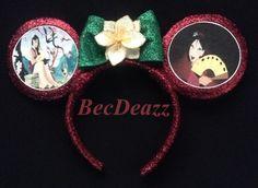 Disney's Mulan inspired Minnie Mouse ears headband. Diy Mickey Mouse Ears, Micky Ears, Disney Mickey Ears, Mickey Mouse And Friends, Disney Headbands, Ear Headbands, Disney Diy, Disney Stuff, Disneyland Ears
