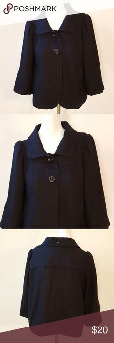 """💋SALE💋Lux (Urban Outfitters) Wool Blazer Lux (Urban Outfitters) Wool Blazer. Size Medium. Two button front closure. Two front pockets. Color: black. Interior colors: black, yellow, purple. 50% wool, 50% polyester. Measurements: 38"""" bust, 17"""" sleeves, 21"""" length. Urban Outfitters Jackets & Coats Blazers"""