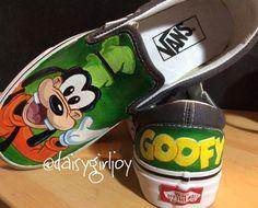 Adult Vans Brand Custom hand painted Disney Goofy by DaisyGirlJoy