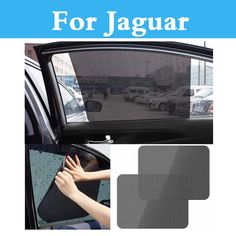 Auto Sun Visor Car Window Suction Cup Curtain Sunshade Covers For Jaguar Xe Xf Xfr Xj Xjr Xk Xkr X-Type F-Pace F-Type S-Type #Affiliate