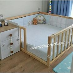 30 Smart Baby Toddler Bedroom Design Ideas to Inspire You is part of Baby furniture It takes enough creativity to make your child's room more attractive and unique The design of a toddler room is - Toddler Rooms, Baby Boy Rooms, Baby Bedroom, Baby Room Decor, Baby Cribs, Nursery Room, Nursery Ideas, Toddler Bedroom Ideas, Diy Toddler Bed