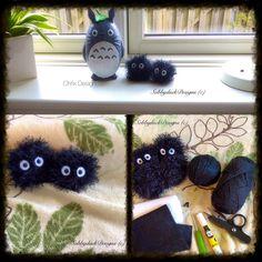 Soot Sprite Totoro FREE Amigurumi Crochet Pattern    Picture Featuring: Chrix Design<3