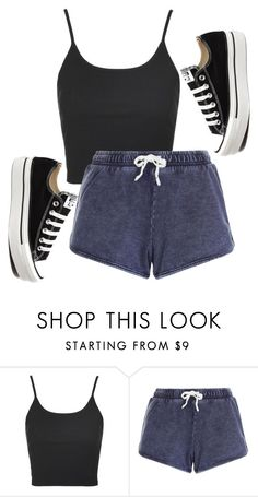 """Untitled #574"" by deima-835 ❤ liked on Polyvore featuring Topshop and Converse"