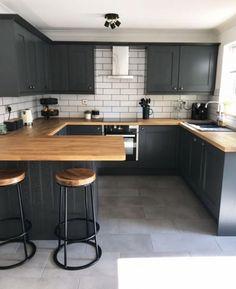 Kitchen Room Design, Home Room Design, Modern Kitchen Design, Home Decor Kitchen, Kitchen Living, Interior Design Kitchen, Kitchen Furniture, New Kitchen, Home Kitchens