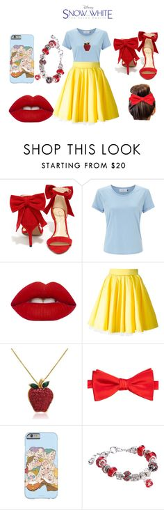 """""""Snow white-modern touch"""" by elysse-r on Polyvore featuring Jessica Simpson, John Lewis, Lime Crime, Philipp Plein, Amanda Rose Collection, Saddlebred and modern"""