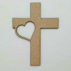 Made From thick High Quality MDF. 5 x wooden shapes, each is. 5 xMDF Wooden Cross with Heart Shape. Any laser processing marks can be removed by a light sanding or simply painting over. Curtain Finials, Cloud Craft, Penguin Craft, Shape Crafts, Wood Crosses, Wooden Shapes, Heart Crafts, Head Shapes, Wooden Crafts