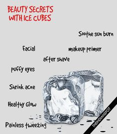 An easy way to minimize the appearance of pores and fine lines is by using an ice cube. There are also many different simple ways...