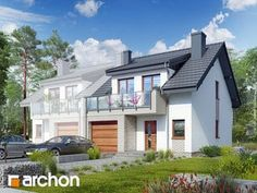 Projekt domu Dom w klematisach 20 (B) - ARCHON+ Home Fashion, Mansions, House Styles, Home Decor, Decoration Home, Manor Houses, Room Decor, Villas, Mansion