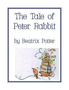 The Tale of Peter Rabbit Unit Study & Lapbook Printables