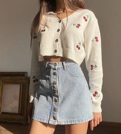 Adrette Outfits, Indie Outfits, Teen Fashion Outfits, Korean Outfits, Retro Outfits, Girly Outfits, Cute Casual Outfits, Stylish Outfits, Vintage Outfits