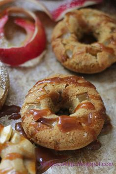 Eat Good 4 Life Baked Apple and caramel rustic donuts » Eat Good 4 Life