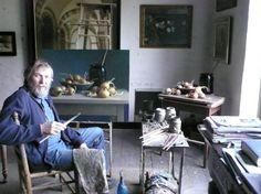 Henk Helmantel in zijn atelier