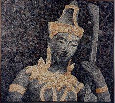 "mosaico-29  "" Tai ""   (12-96)   (56 x 50cm.)     C.P | by Alberto Gonzalez Alvarez"