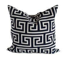 Navy outdoor pillows, 18x18, Outdoor pillow, Outdoor pillow covers, Navy and white pillows, Outdoor throw pillow, Modern pillow, Geometric by PillowCorner on Etsy