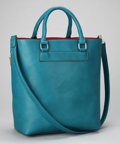Peacock Blue Classic Tote by David Jones (other colors available)