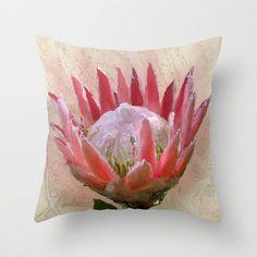 Protea throw pillow - for the botanical lovers -   #protea  #pillows #cushion  #botanical  #flowers  #decor  #homeware #society6