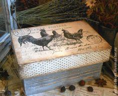 Короб Петухи винтажные 2 - короб для кухни,короб для хранения,для дома и интерьера