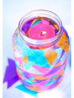 A DIY designed for the not-so-crafty, these lanterns require nothing more than colorful tissue paper and Mod Podge.