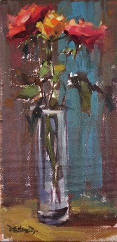 Roses, painting by artist Cathleen Rehfeld