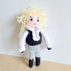 Crochet Jareth the Goblin King with the pattern found on my blog!