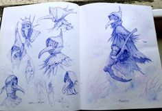 Sketchbook dump 03, Léo Lasfargue on ArtStation at https://www.artstation.com/artwork/5gXBP