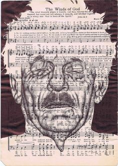 draw portrait Beautiful Biro Drawing Portraits - Mark Powell, an artist known for his work with old, tattered and stamped envelopes that serve as his canvas for Bic Biro drawings. Biro Art, Biro Drawing, Pen Drawings, Newspaper Art, Vintage Newspaper, Sheet Music Art, Art Music, Mark Powell, Gcse Art Sketchbook