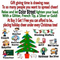 Women from ALL walks of life will LOVE and appreciate the gift of Color Street! Christmas Colors, Christmas Sale, Xmas, What Are Colours, Street Game, Thanksgiving Celebration, Street Marketing, Breast Cancer Support, Christmas Graphics