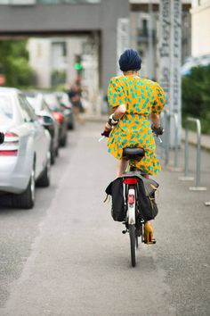 Catherine Baba #streetstyle #bikestyle