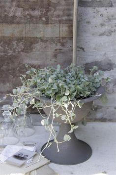 mooie metalen schaal op voet van Jeanne d` Arc Living 2
