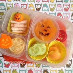 Adorable pumpkin themed lunch via bentoliciouso , Instagram