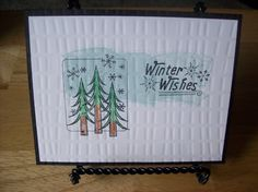 Winter Wishes Handmade Greeting Card  blank by janzcardsandgifts