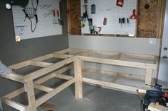corner work bench