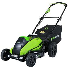 online shopping for GreenWorks Cordless Lawn Mower + Extra Blade, Batteries Charger Included from top store. See new offer for GreenWorks Cordless Lawn Mower + Extra Blade, Batteries Charger Included Lawn Mower Battery, Cordless Lawn Mower, Walk Behind Lawn Mower, Best Lawn Mower, Steel Deck, Pergola Pictures, Pergola Designs, Time 7, Lawn Care