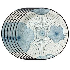 I pinned this Ume Tokusa Dinner Plate in Blue - Set of 6 from the Miya Company event at Joss & Main!