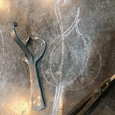 Hook No.290 #366hooks This one was inspired by a book I just picked up with #artnouveau patterns. #blacksmith #fireweld #forged #forgewelded #madeincanada