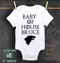Baby of House Customized Game of thrones Baby boy Baby Baby Shower Gifts, Baby Gifts, Baby Onesie, Onesies, Presents For Boys, Pregnancy Gifts, How To Make Light, Funny Babies, New Baby Products