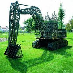 Toxiferous Designs: Laser-cut Steel Sculptures by Wim Delvoye