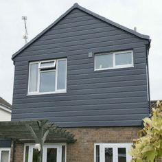 Shiplap cladding is available in single & double shiplap boards. An easy to fit exterior wall cladding – the channel between each board creates a natural shadow Shed Cladding, Shiplap Cladding, Cladding Panels, Wall Exterior, Grey Exterior, Exterior Design, Exterior Remodel, House Extension Plans, House Extension Design