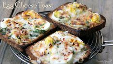 egg cheese toast recipe with video.Make these egg cheese toast for evening snacks, kids school lunch box or party appetizer. Cheese toast are made with eggs, cheese and bread.