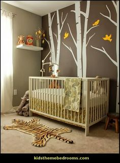 The safariinspired nursery pays homage to the sons maternal
