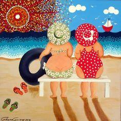try to paint this?- try to paint this? try to paint this? Plus Size Art, Fat Art, Art Impressions, Mermaid Art, Funny Art, Whimsical Art, Beach Art, Rock Art, Painted Rocks