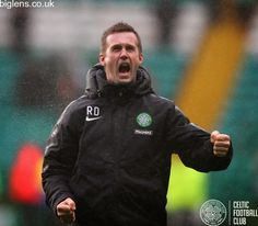 Celtic 4-0 Hamilton Accies, 22nd February 2015. Ronny Deila thanks the Celtic support after his side ran out 4-0 winners at Celtic Park