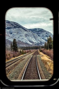 scenic view from the train window By Train, Train Tracks, Trains, Vincent Van Gogh, Train Pictures, Window View, The Great Outdoors, Railroad Tracks, Backpacker