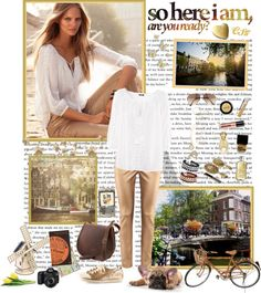 """Sunny Afternoon in Amsterdam with H"" by shiningstars17 ❤ liked on Polyvore"