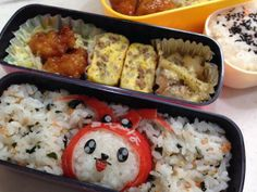 posted from @riekorin おはよう(^O^) 今日のお弁当は、海老名のえび〜にゃ♪ #kyaraben #obentoart