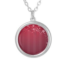 Red Pink Abstact Circle line Design Pendant