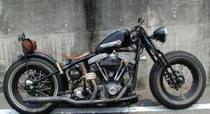 Bobber Inspiration | Harley-Davidson shovelhead bobber | Bobbers and Custom Motorcycles