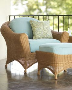 Liking the wicker and soft blue
