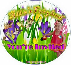 Fairies and butterflies party tags by mhaulikhiels creations