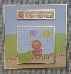 Handmade 5 x 5 Square Greeting Card Son by BavsCrafts on Etsy Birthday For Him, Greeting Cards Handmade, Sons, Birthdays, Card Making, Luxury, Frame, Etsy, Anniversaries